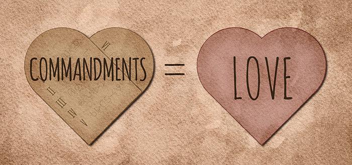 Prikázania = láska